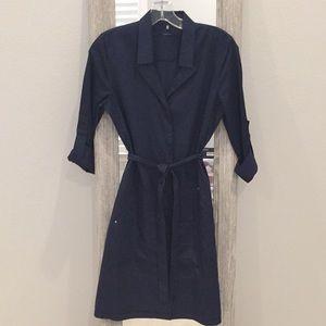 Elie Tahari Classic Navy Shirt Dress